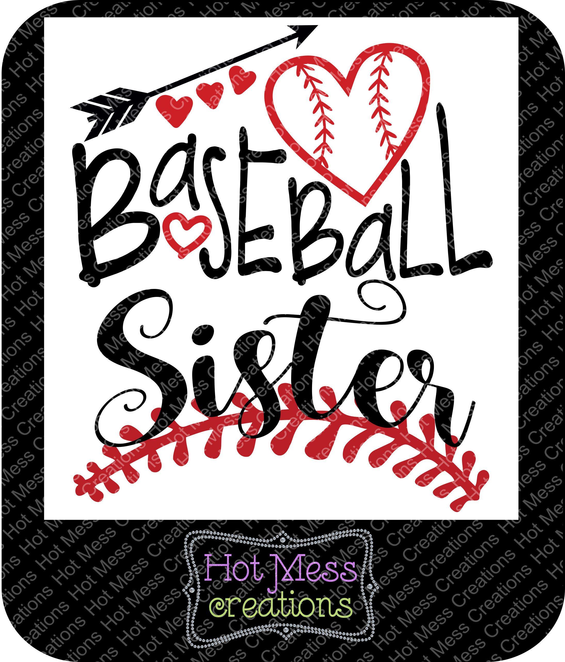 35+ Baseball Svg, Baseball Sister, Svg, Dxf, Cut File PNG