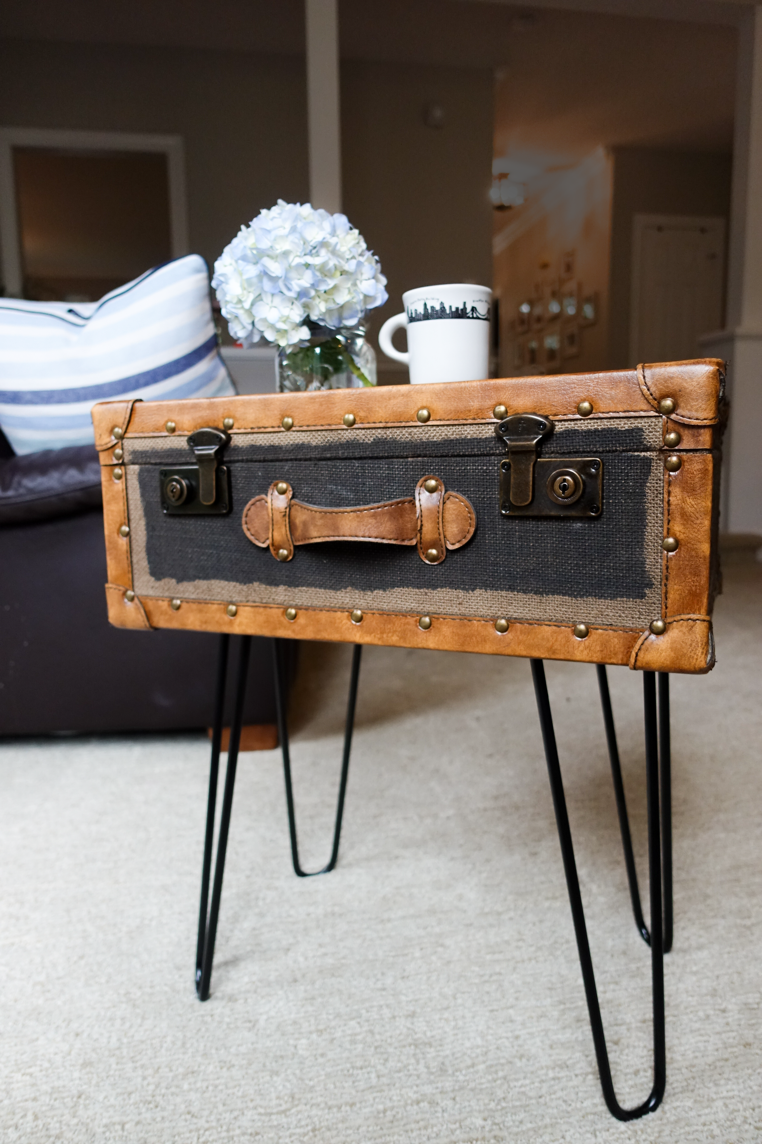 Diy Vintage Suitcase Side Table South Lumina Style Vintage