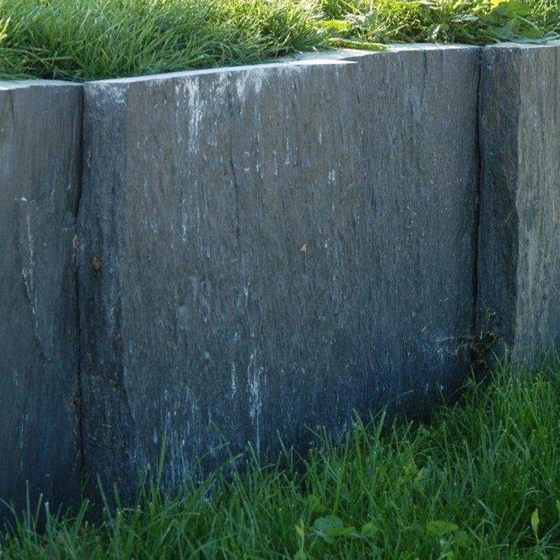 Palis Droite Ardoise Noir H 50 X L 100 Cm Palis Ardoise Ardoise Noire Bordure Terrasse