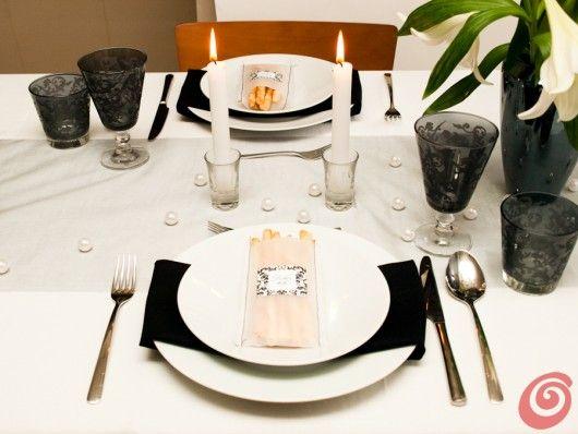 Matrimonio Tema Juventus : Mise en place black white per un matrimonio moderno ed