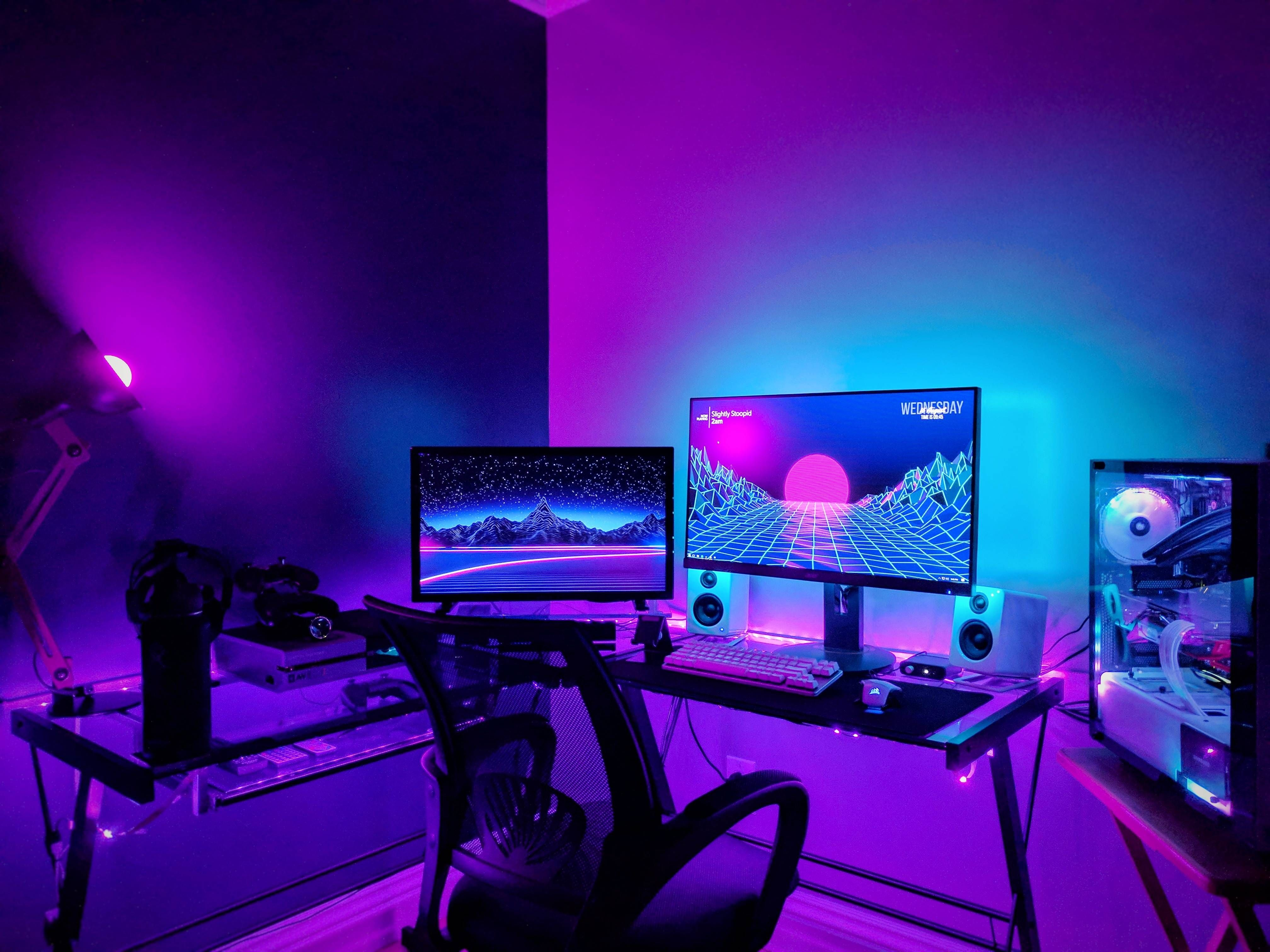 Pin by pizdabolka on IT-theme | Diy computer desk, Gaming room setup, Pc  setup
