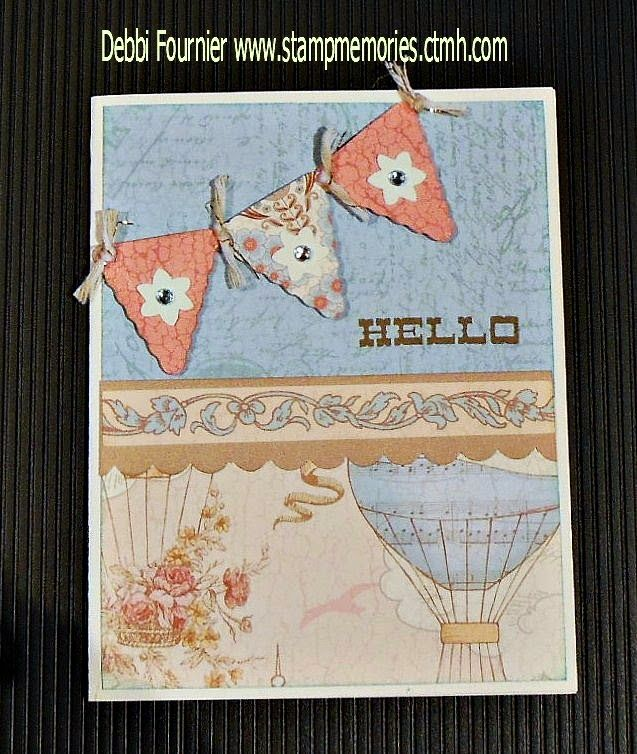 Balloon Ride card inspired by Denise Anderson Turley