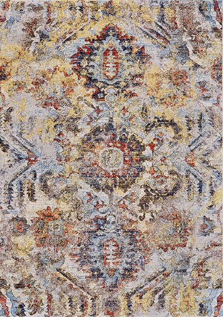 3542F-Cotton-IceFlow Las Vegas rugs feature traditional floral inspired designs to contemporary modern