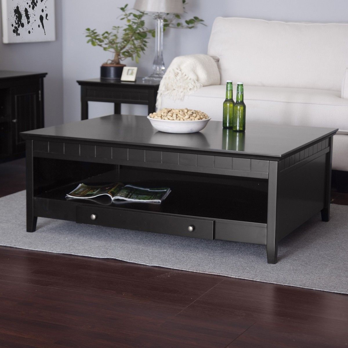 coffee table desk with storage