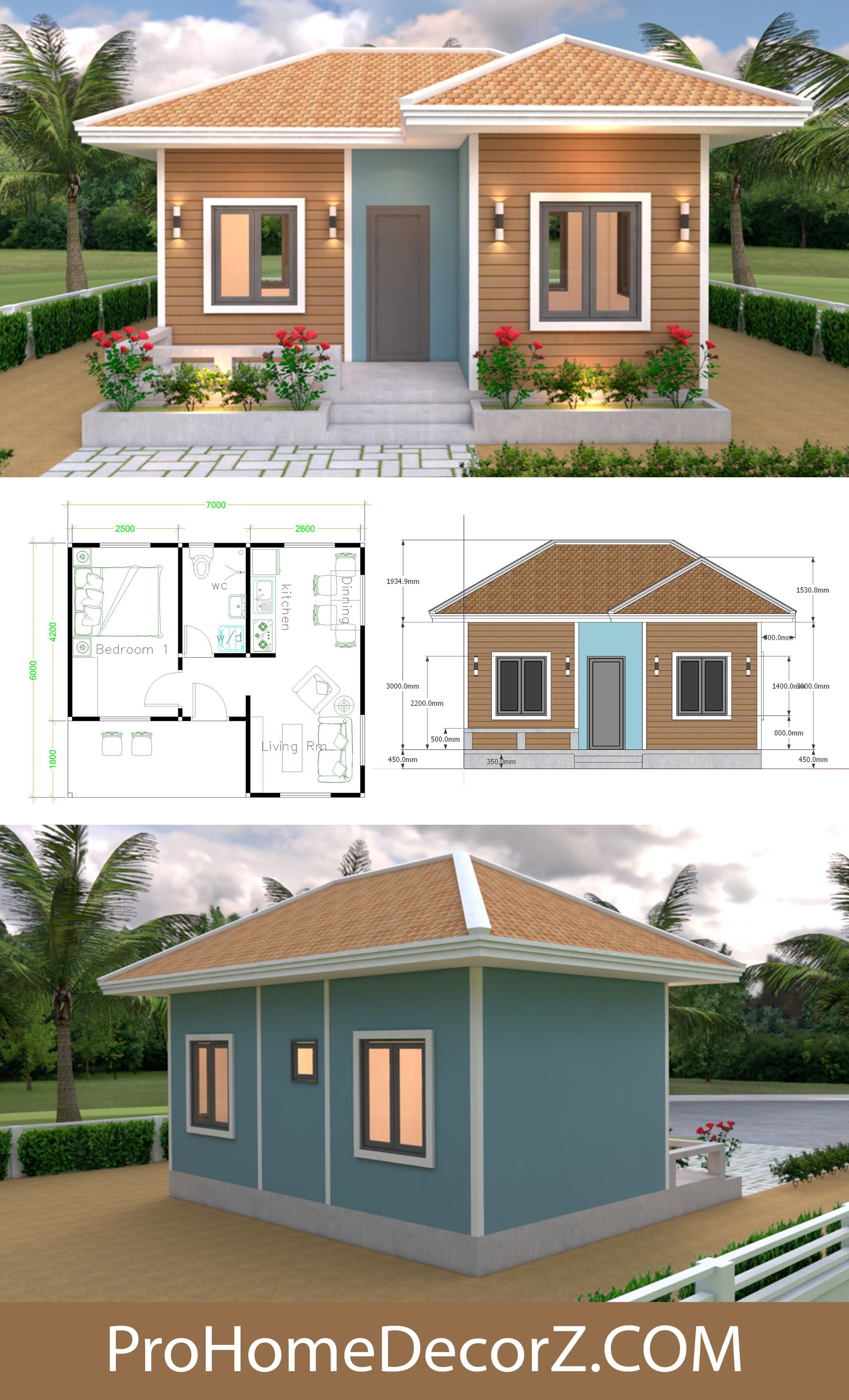 Simple House Designs 7x6 Hip Roof Simple House Design Simple House House Design