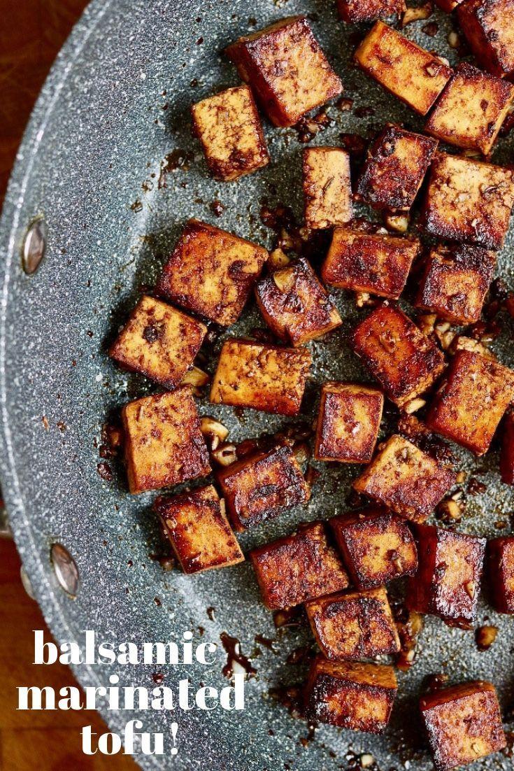 Best Marinated Tofu ever!! This Balsamic Marinated Tofu