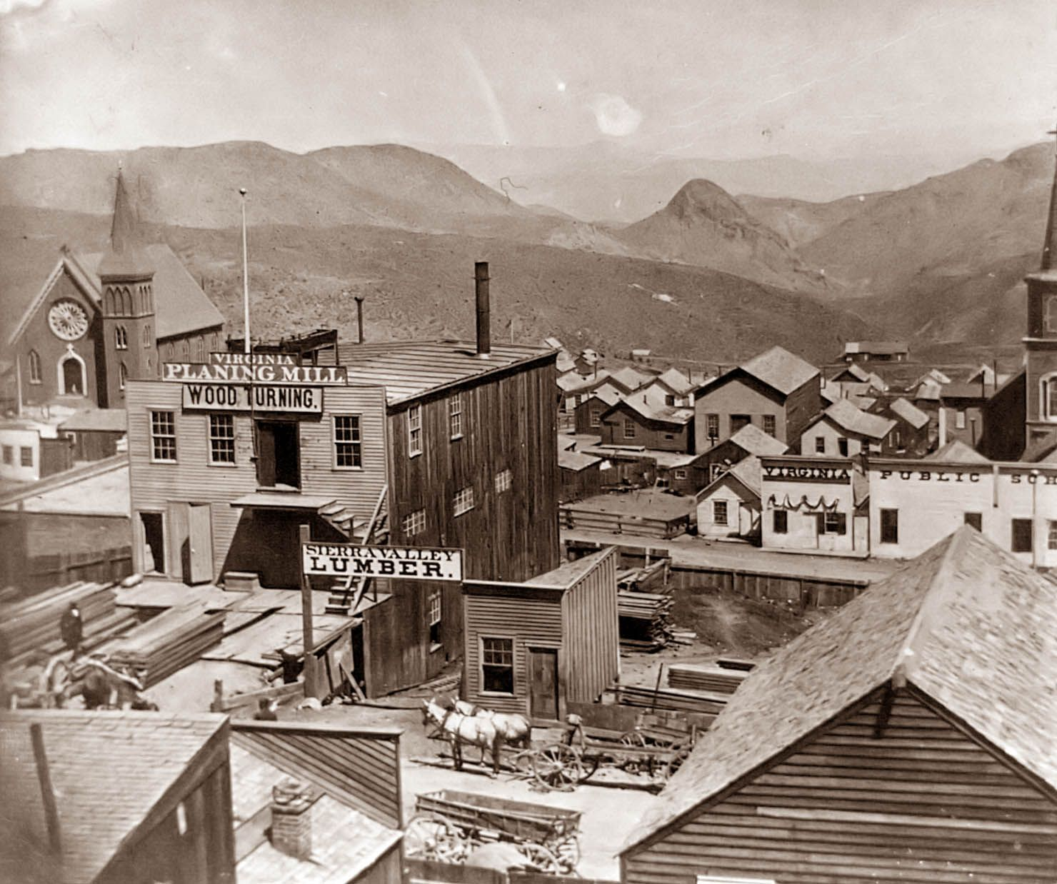 Virginia City Nevada The Town Sprung Up Out Of Nowhere