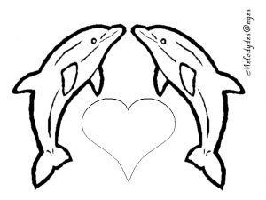 Coloriage Dauphin Coeur.Coloriage Dauphin Coeur Recherche Google Coloring Pages Animal