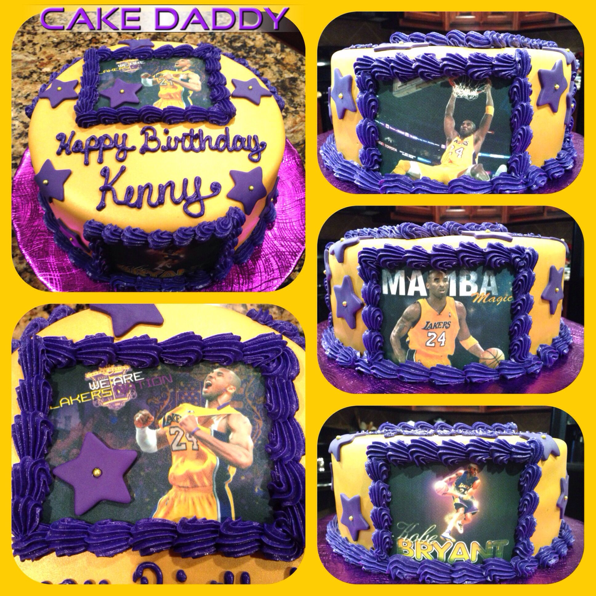 Pin By Designs By Cake Daddy On Custom Cakes By Cake Daddy Kobe Bryant Birthday Sports Themed Cakes Basketball Birthday Cake
