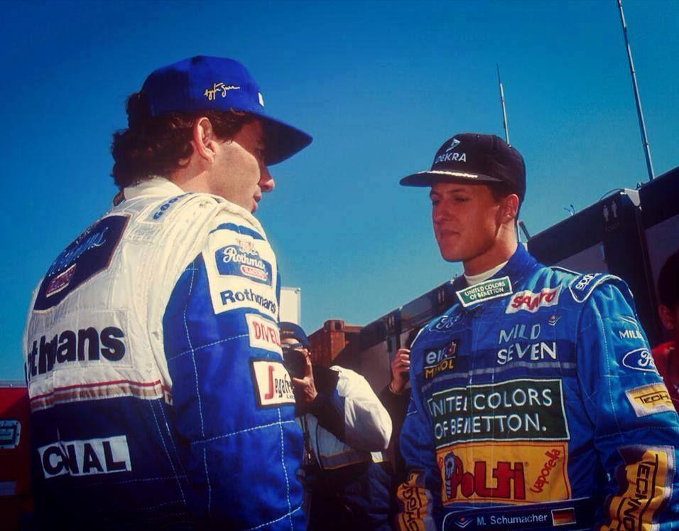 Michael and Ayrton Senna