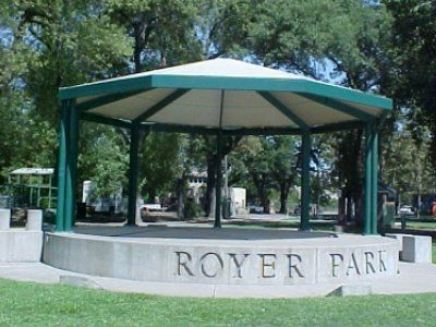 Gazebo canopy style outdoor sun shade at Royer Park in Roseville California featuring a tension & Gazebo canopy style outdoor sun shade at Royer Park in Roseville ...