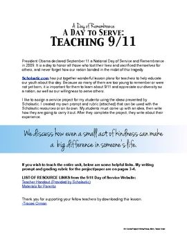 9 11 Service Project Writing Prompt Expository Essay Services 9/11 Student Thesi Statement