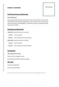 Il Curriculum Vitae Anticronologico Struttura Con Imagenes