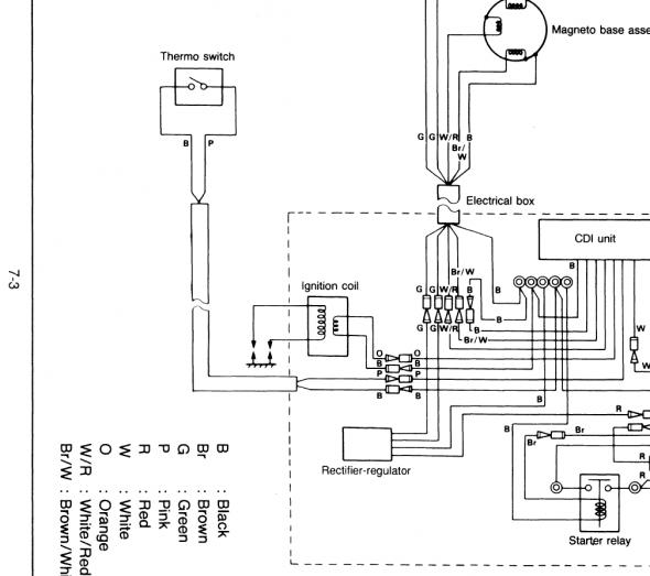 yamaha blaster wiring diagram  diagram yamaha waverunner