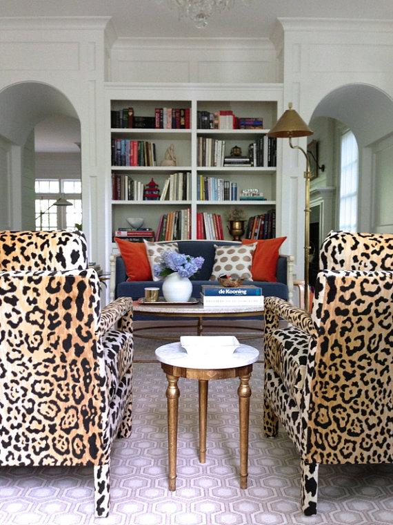 Velvety Cotton Leopard Print Fabric Braemore Jamil Multi