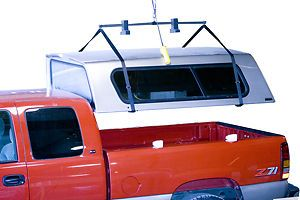 Truck Camper Shell Hoist A Top Power Lift And Store Your Camper Shell For Truck Truck Camper Shells Camper Shells Lifted Trucks