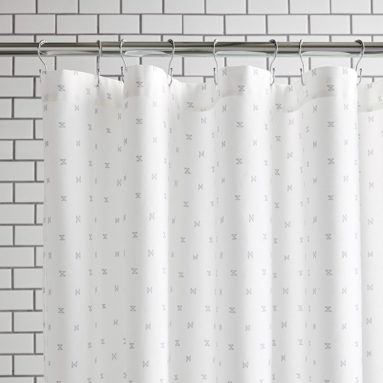 Sashi Geo Gray Shower Curtain Gray Shower Curtains Curtains