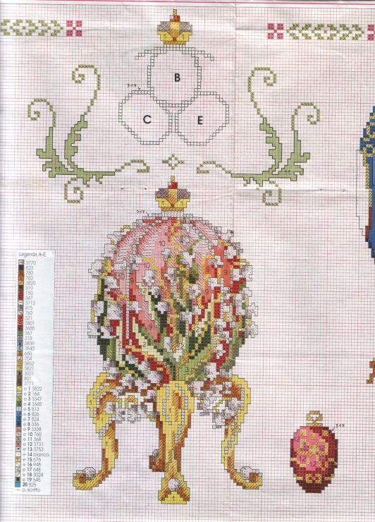 Faberge Lily of the valley egg cross stitch | HUEVOS PUNTO DE CRUZ ...