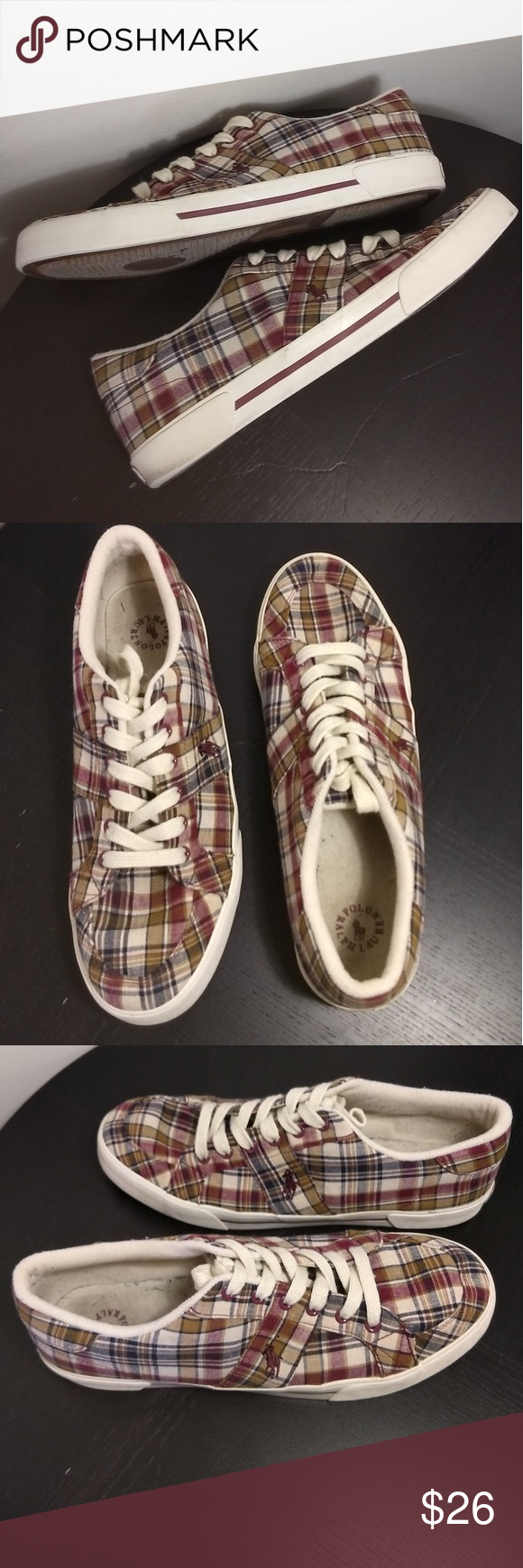 Ralph Lauren POLO Humberto Madras Plaid Shoes GUC POLO Ralph Lauren Humberto Sne Source by tennisshoeoutfitwinter0694 shoes outfit