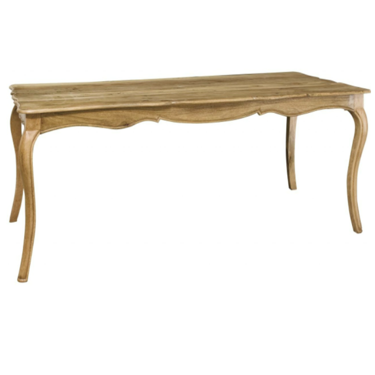 Timber Chantilly Dining Table With Curved Legs Allissias Attic Vintage French Style
