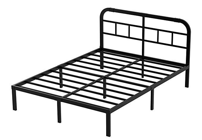 ZIYOO 14 inch Steel Slat Platform Bed Frame