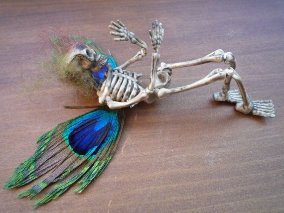 Halloween decoration skull skeleton goth creepy by MummersDream - halloween decorations skeletons