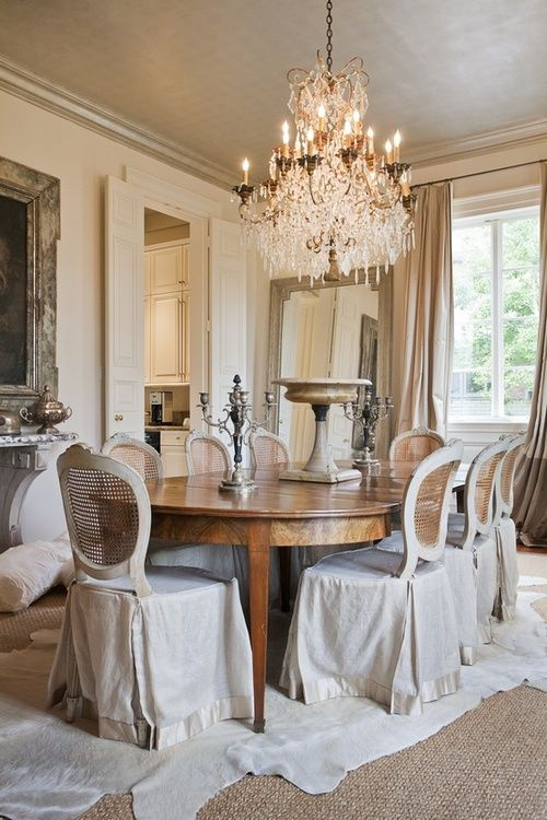 Love The Dining Room. Love The Chair Covers.
