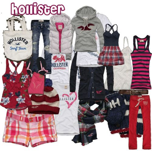 Hollister pieces-pinks & reds:)