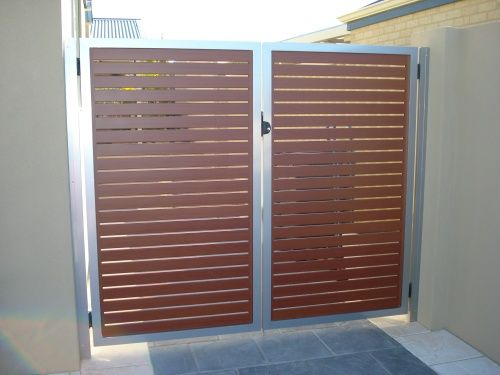 Wood and Metal Gate Gardening Pinterest Rejas, Rejas modernas - rejas de madera