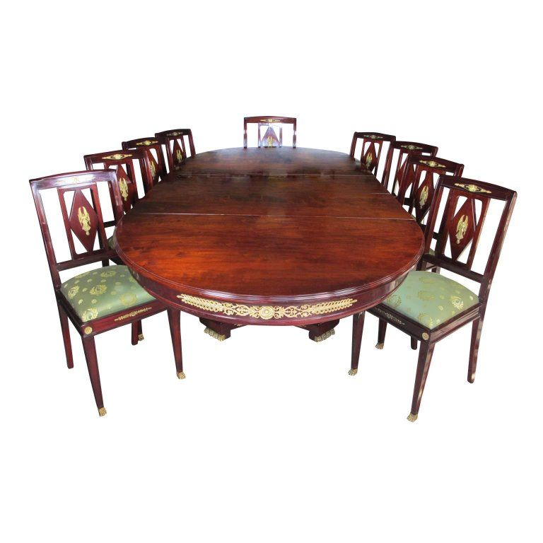Super French 19Th Century Empire Style Napoleon Iii Mahogany And Ocoug Best Dining Table And Chair Ideas Images Ocougorg