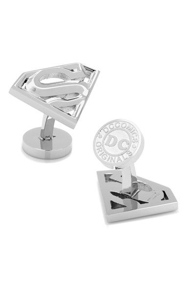 Cufflinks Inc. Sterling Silver Superman Cuff Links DTfBKy