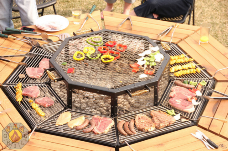 The Ultimate Fire Pit Bbq And Table Combo Grill Grills