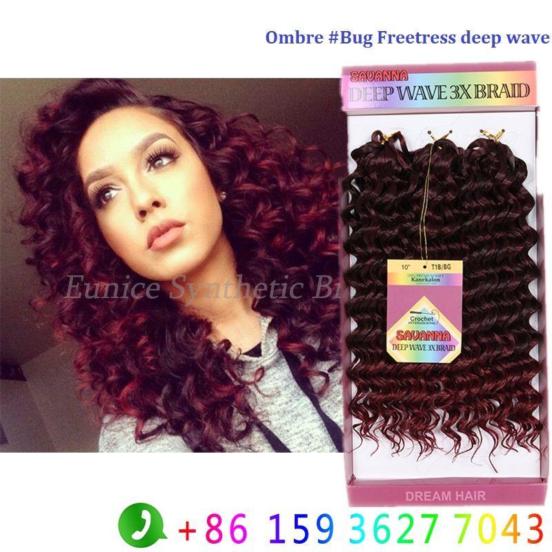 Premium Synthetic Hair Soft Freetress Braids Deep Wave