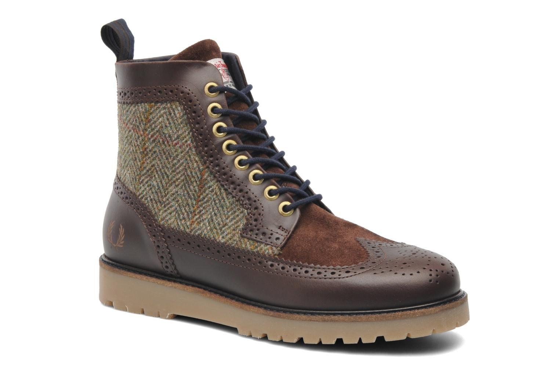 Fred Perry Northgate boot harris tweed leather Dark Chocolate 14