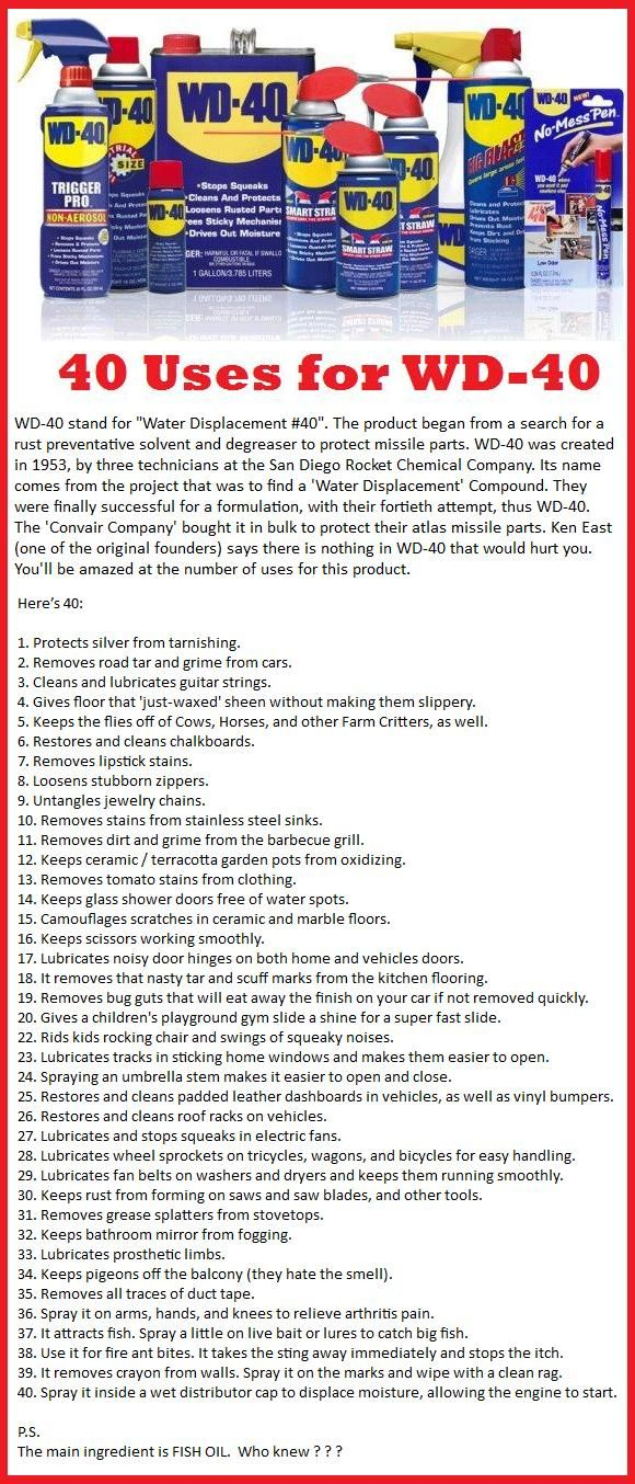 What Does Wd 40 Stand For Water Displacement 40 Read The