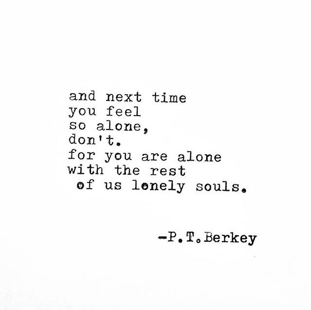 The lonely soul poem