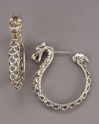 9fed395bb John Hardy dragon hoop #earrings | Bags and accessories | Diamond ...
