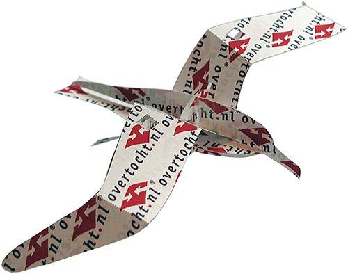 A4 Bouwplaat Van Een Albatros Beursmateriaal Voor Overtocht Nl Knip Vouw Pas Snel Klaar Zonder Een Pompoen Schilderen Vliegende Vogels Speelgoed Knutselen