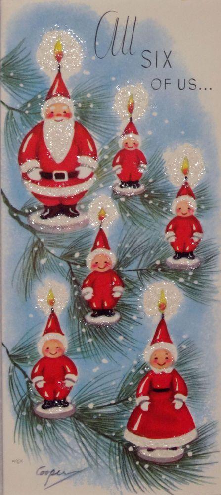 50s Marjorie Cooper Vintage Christmas Card