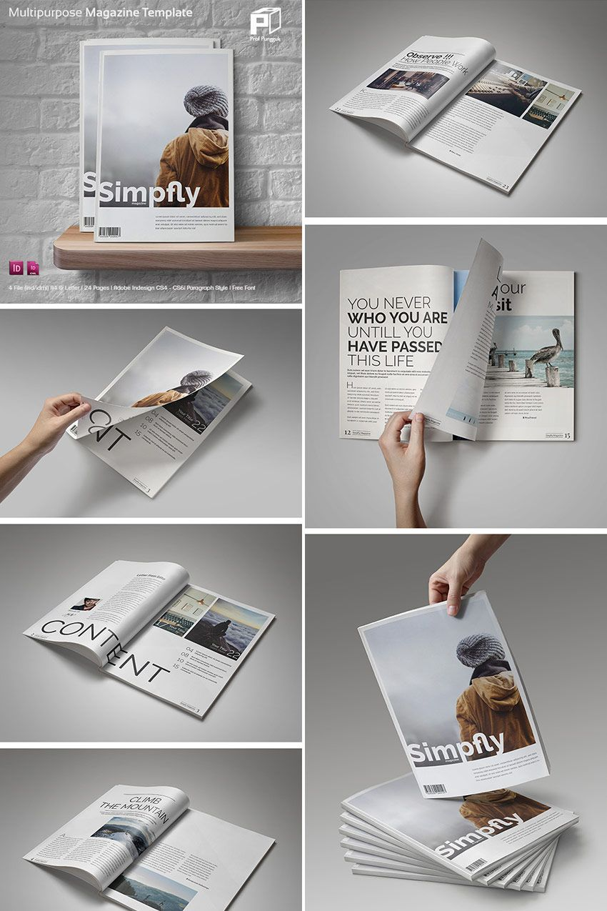 20 Magazine Templates With Creative Print Layout Designs | Daily ...