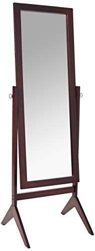 Crown Mark Espresso Finish Wooden Cheval Bedroom Floor Mirror Lavorist In 2020 Floor Mirror Bedroom Flooring Mirror