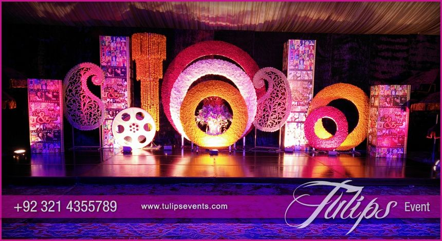 Bollywood Theme Party Decorations Ideas Part - 29: Bollywood Night Mehendi Theme Stage Decoration Ideas In Pakistan 08