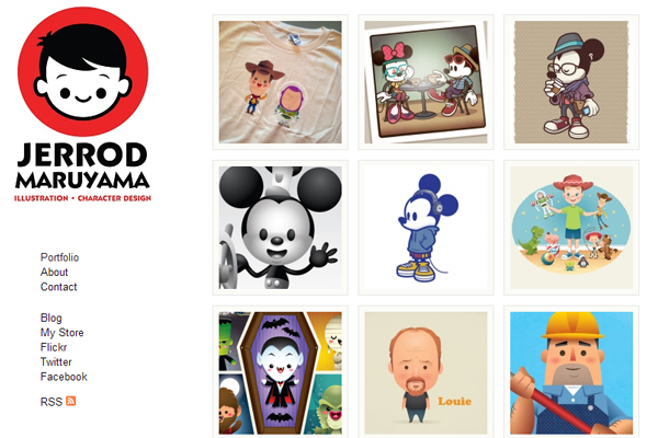 Character Design Portfolio Websites : Jerrod maruyama illustrator portfolio character design