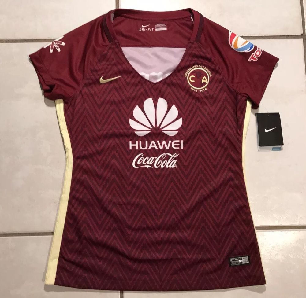 42d72feac NWT NIKE Club America Aguilas CENTENARIO 2016 Away Jersey Women s Medium