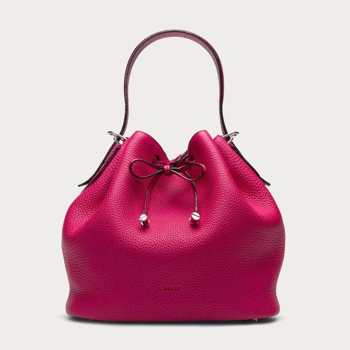 BLOOM DRAWSTRING Women's leather bucket bag in Magenta  https://api.shopstyle.com/action/apiVisitRetailer?id=485694737&pid=uid8721-33958689-52