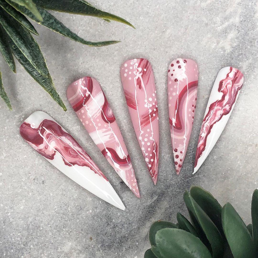 PINKS  #abstractnails#nails#nailsoftheday#bossnails#nailstyle#freehandnailart#na..., #abstractnails #acrylicnails #bossnails #cbartistry #clairebrownartistry #dundee #freehandnailart #goldglitter #marblenails #nailart #nailitdaily #nails #nailsoftheday #nailstyle #nailtechniques #scotland #scratchmagazine #showscratch #stilettonails