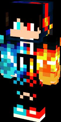 Blue Red Nova Skin Minecraft Skins Minecraft Skins Cool Minecraft Skins Aesthetic
