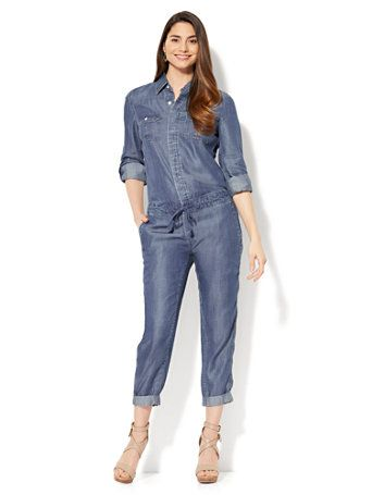 ebed6f4e532 Shop Utility Jumpsuit - Ultra-Soft Chambray. Find your perfect size online  at the best price at New York