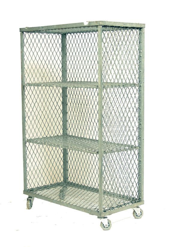 Vintage Industrial Galvanized Steel Wire Shelves by Workshop152 ...