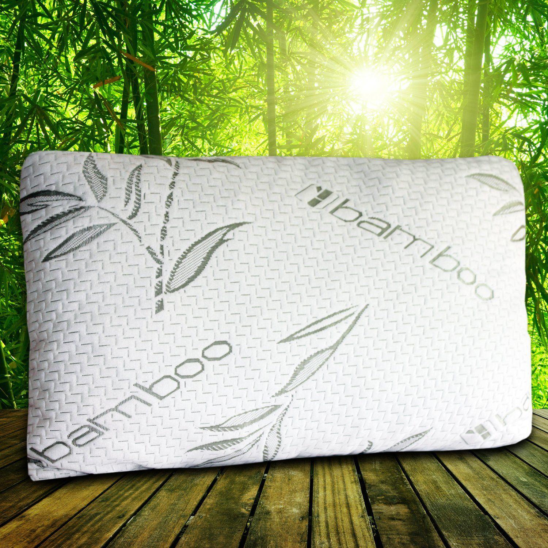Amazonsmile premium bamboo shredded memory foam pillow